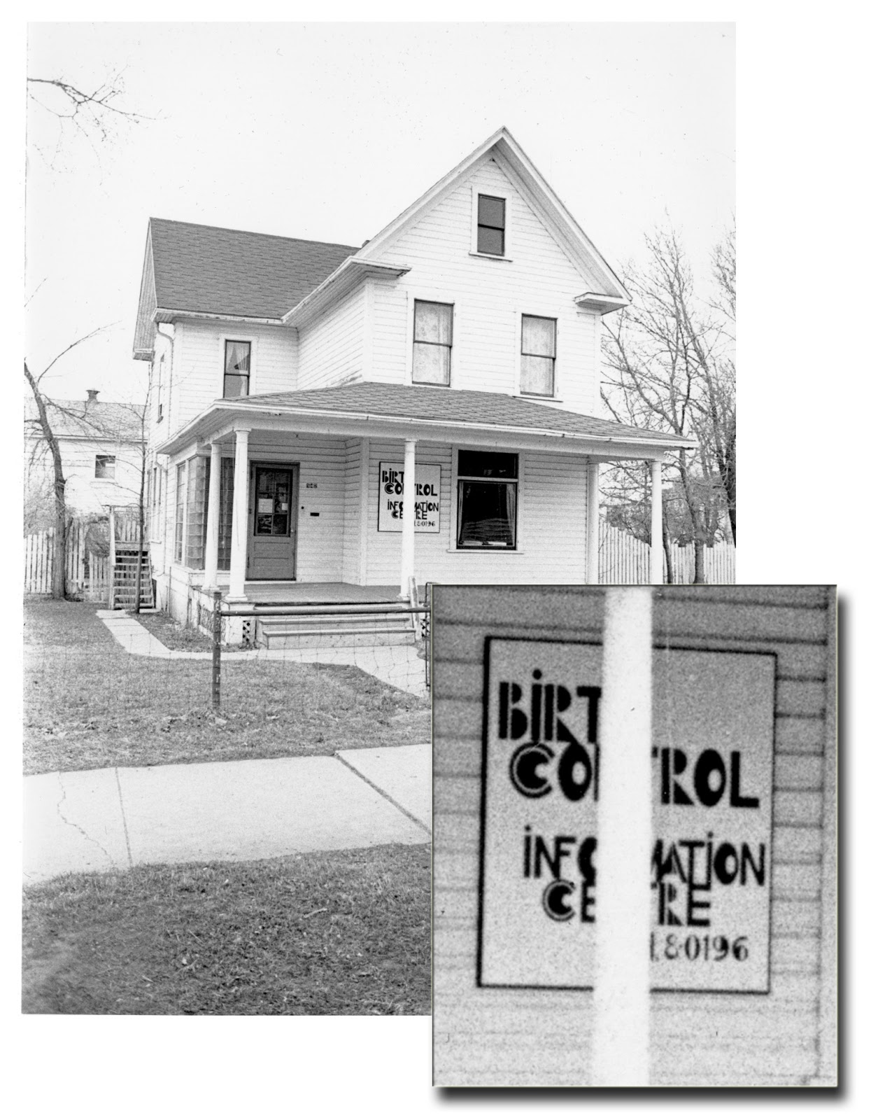 The Lethbridge Birth Control and Information Centre (LBCIC), 1974.   Courtesy the Galt Museum & Archives: 19901067001