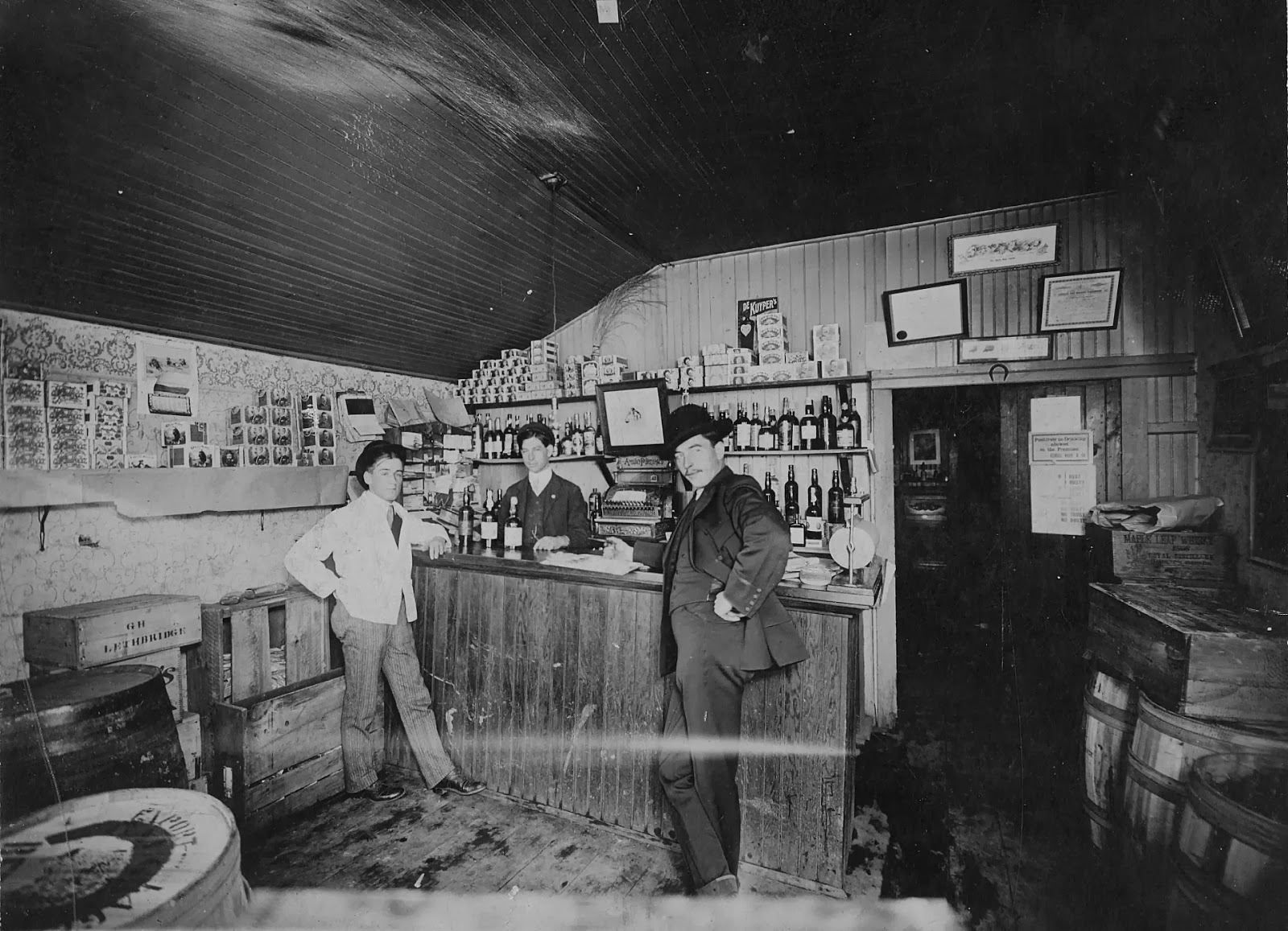 George Houk and Co. Wholesale Liquor.   Courtesy the Galt Museum & Archives: 19891046033