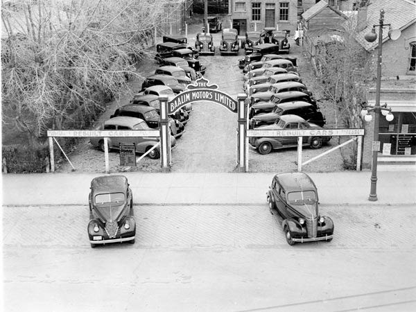 Baalim Motors, 1939.   Courtesy the Galt Museum & Archives: P19790092000