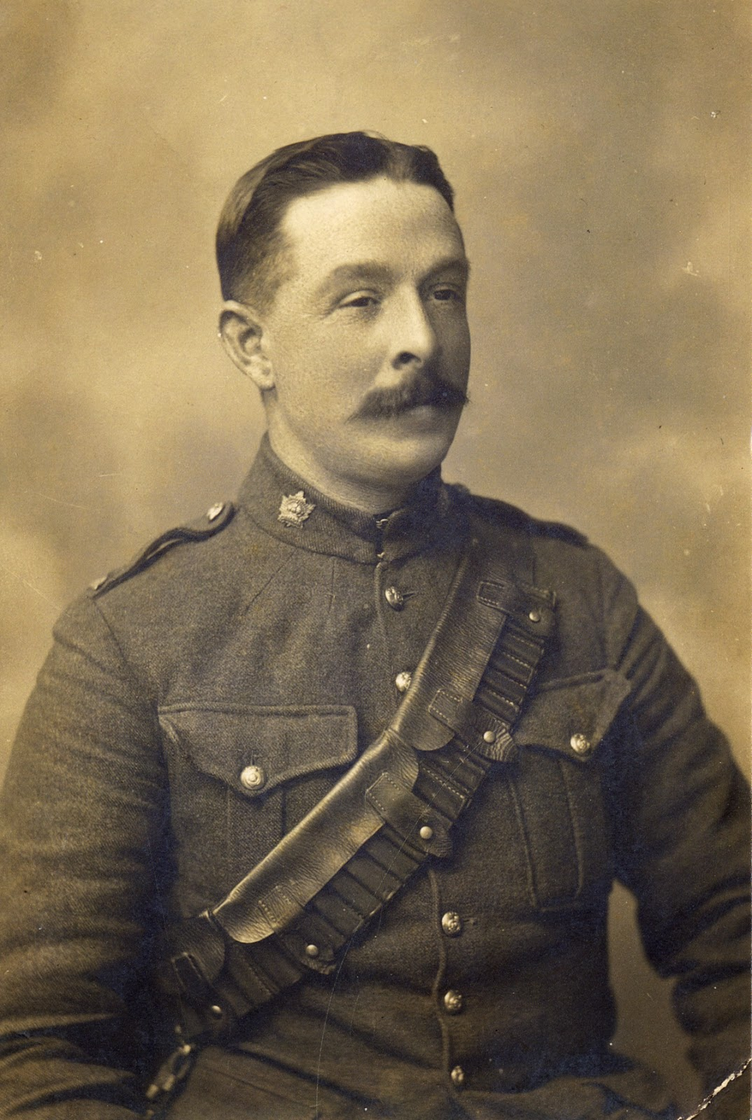 George Bathgate is believed to be the first Lethbridge man to enlist for service in the Great War. He travelled to Valcartier, Quebec with the first contingent from the 25th Independent Battery and served as driver on the lead gun team.  Courtesy the Galt Museum & Archives: 20141015