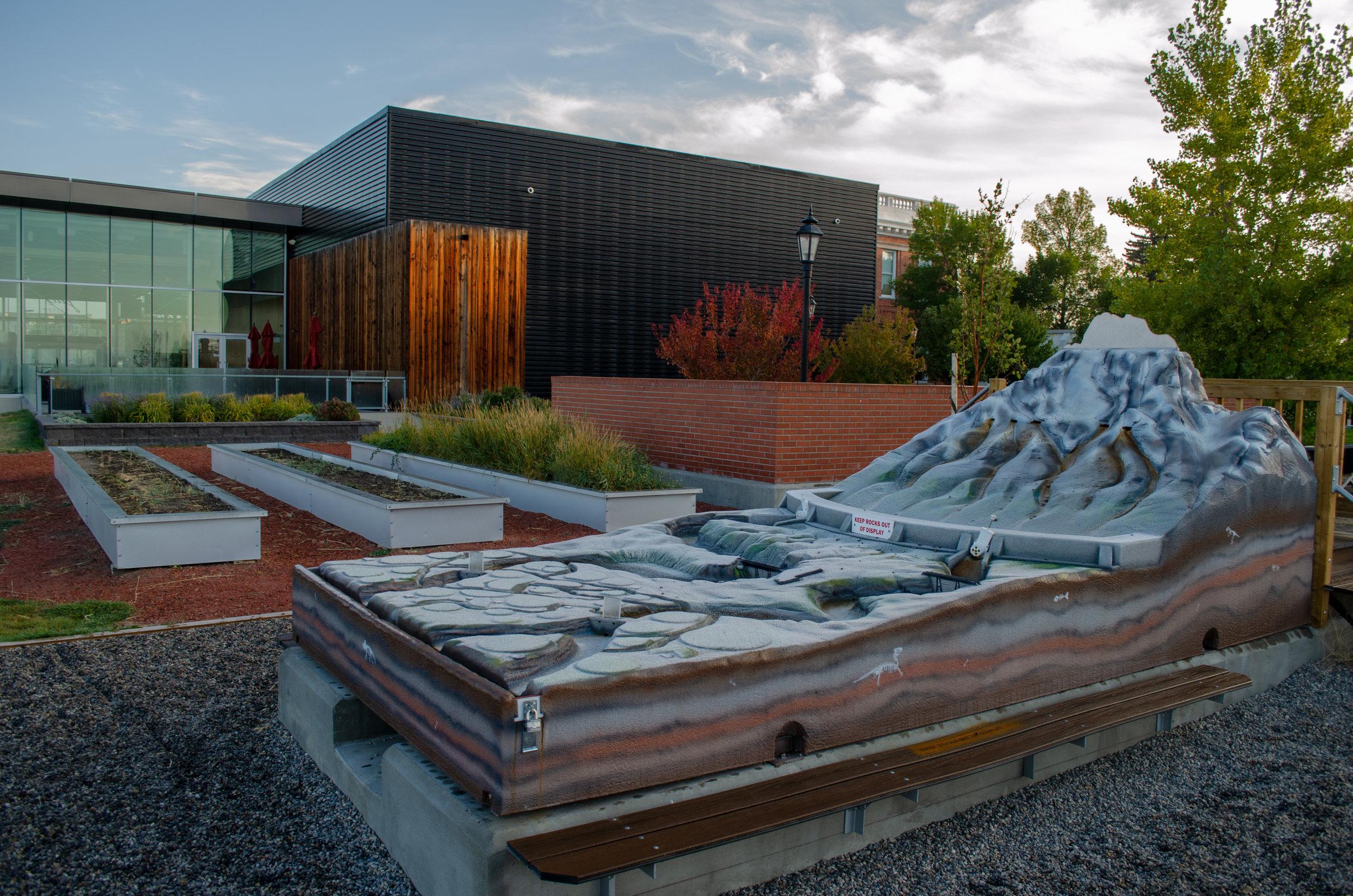 The outdoor irrigation exhibit