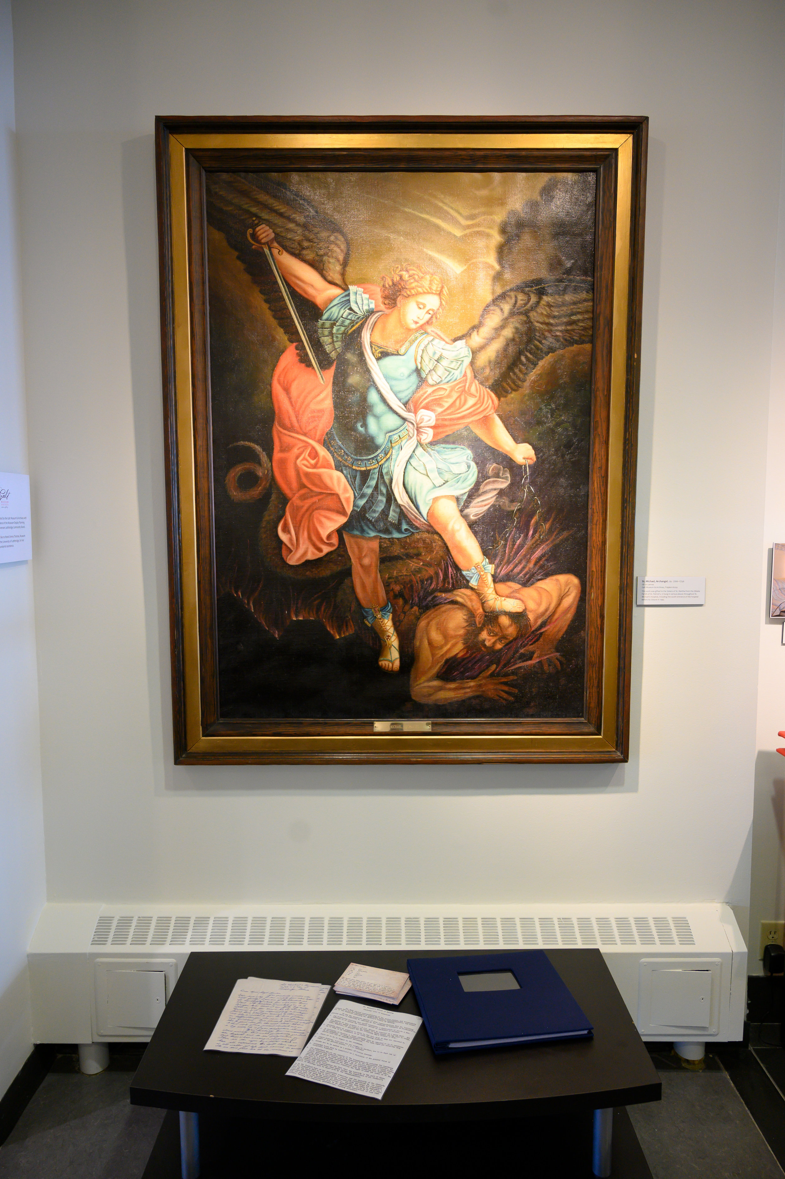 A painting of St. Michael that was installed in the St. Michael's Hospital