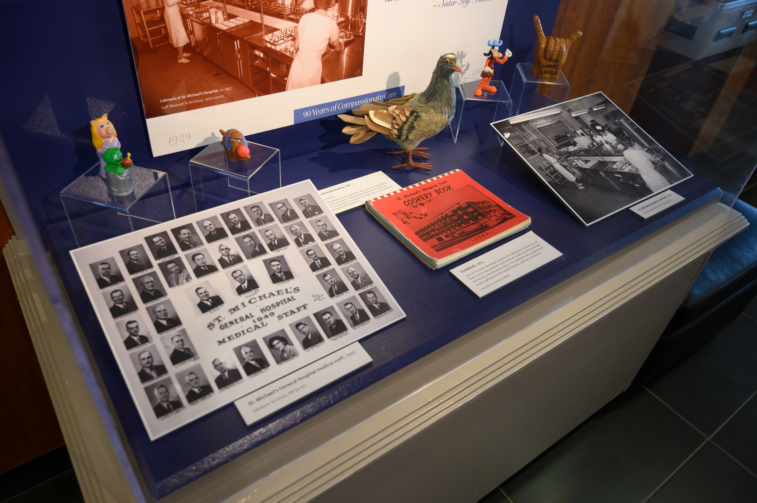Materials featured in the St. Michael's exhibit at the Galt Museum & Archives