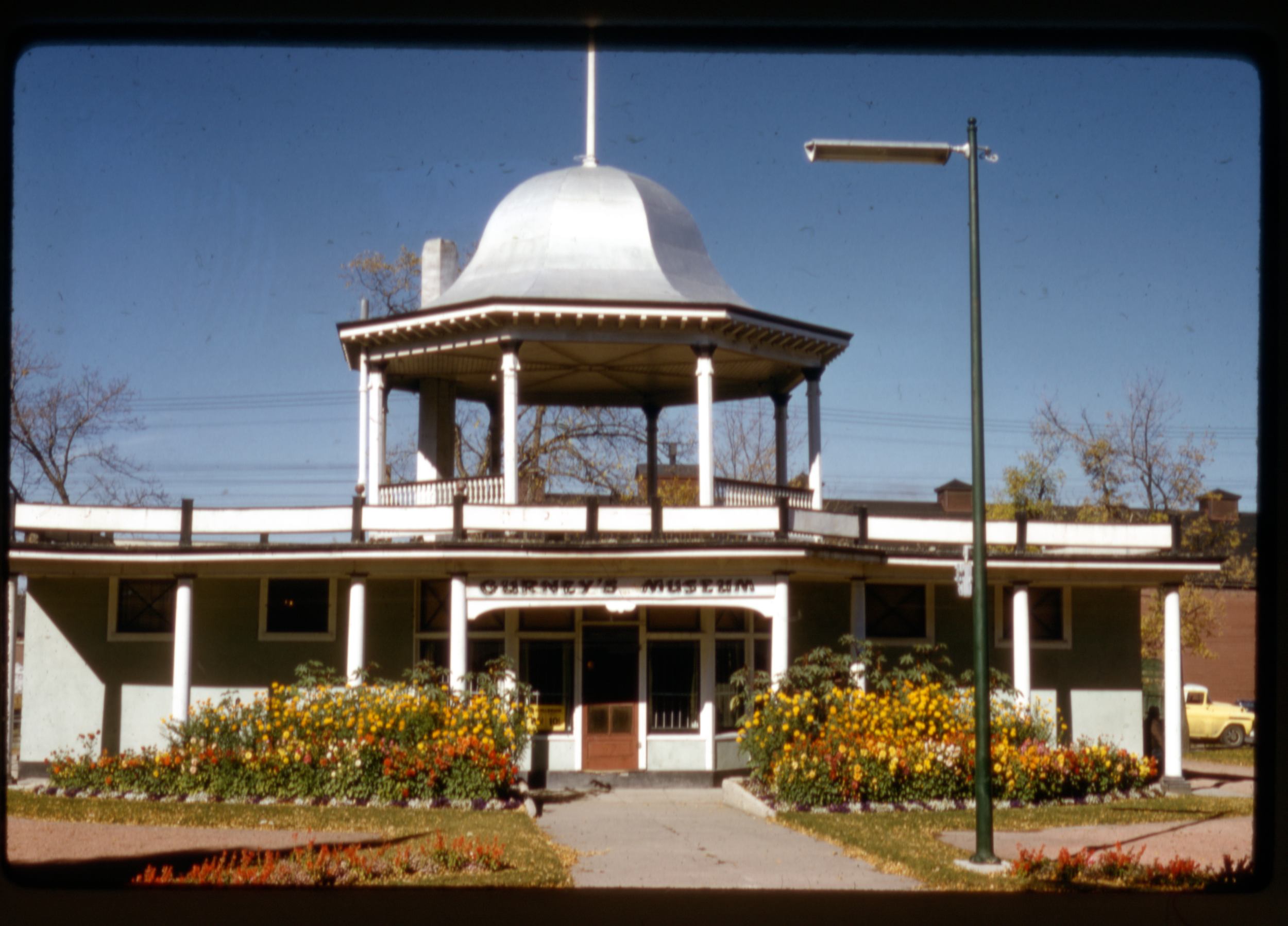 The Gurney Museum, operated in Galt Gardens by Water and Edith Gurney from 1944–1961. Photograph taken by William Hasulak and now stored in the Galt Museum & Archives.   Photograph courtesy the Galt Museum & Archives:  201810350724