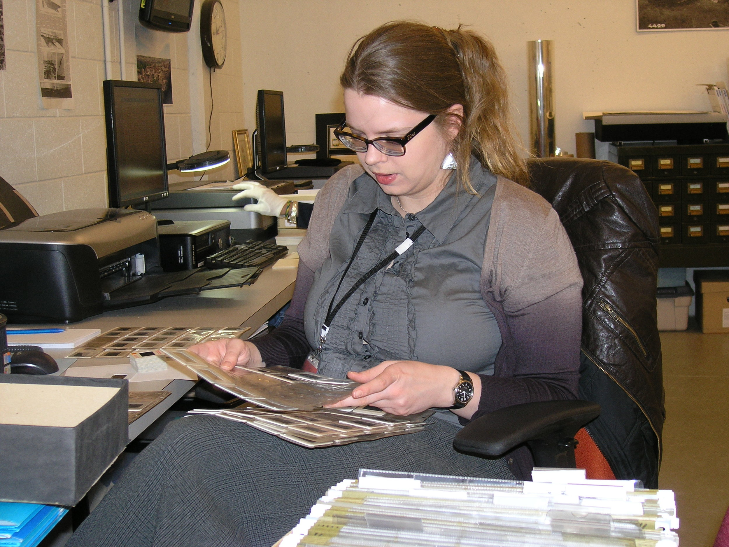 University of Lethbridge History and Museum Studies graduate  Jennifer Vanderfluit , seen here in 2011, gained valuable experience at the Galt Museum & Archives throughout her undergraduate studies.