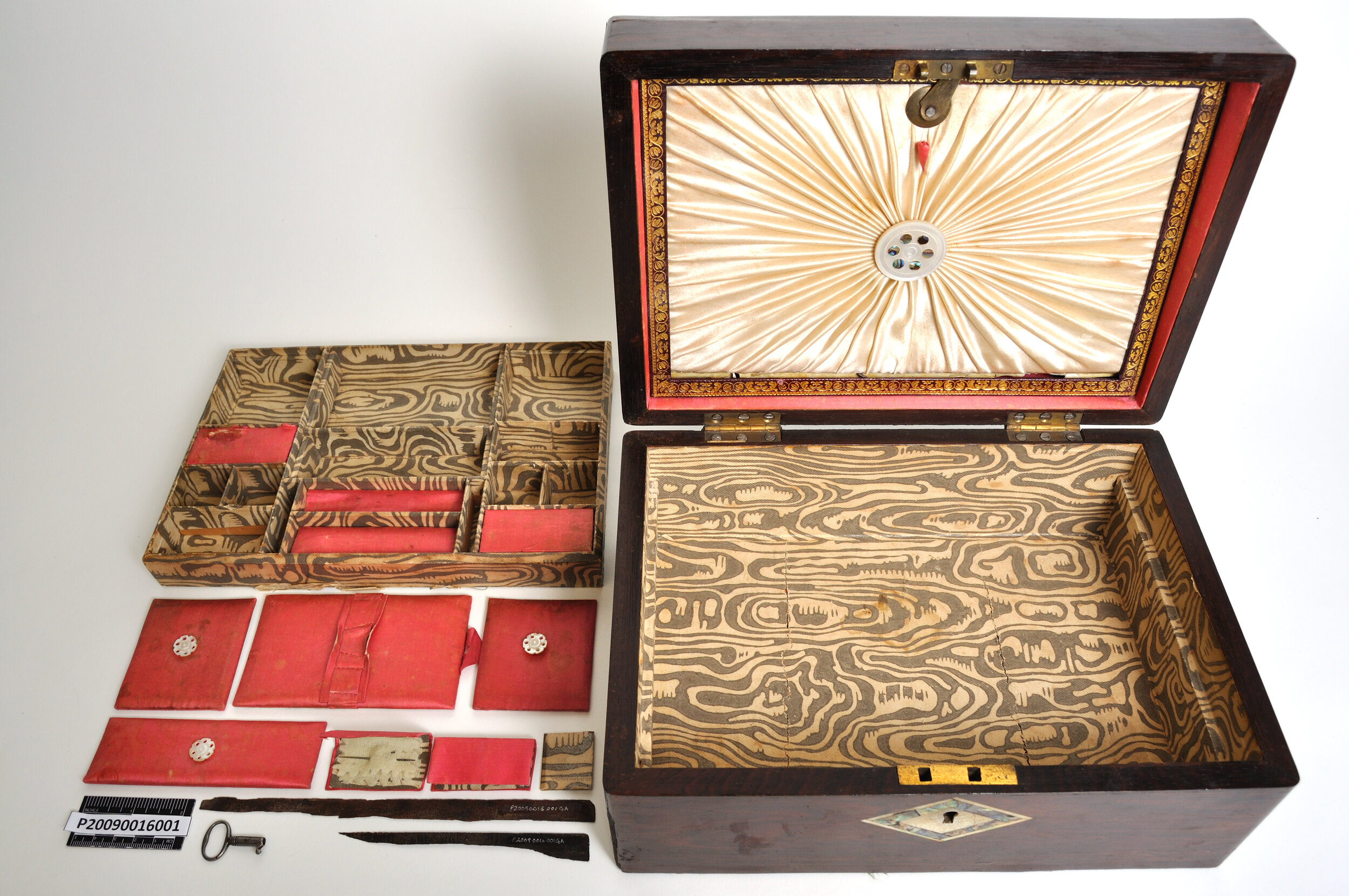 A needle box that originally belonged to Edith Kirk's mother. Donated to the Galt by Katherine Ives Twiss who received the box from Kirk.   Photo courtesy the Galt Museum & Archives: 20090016001