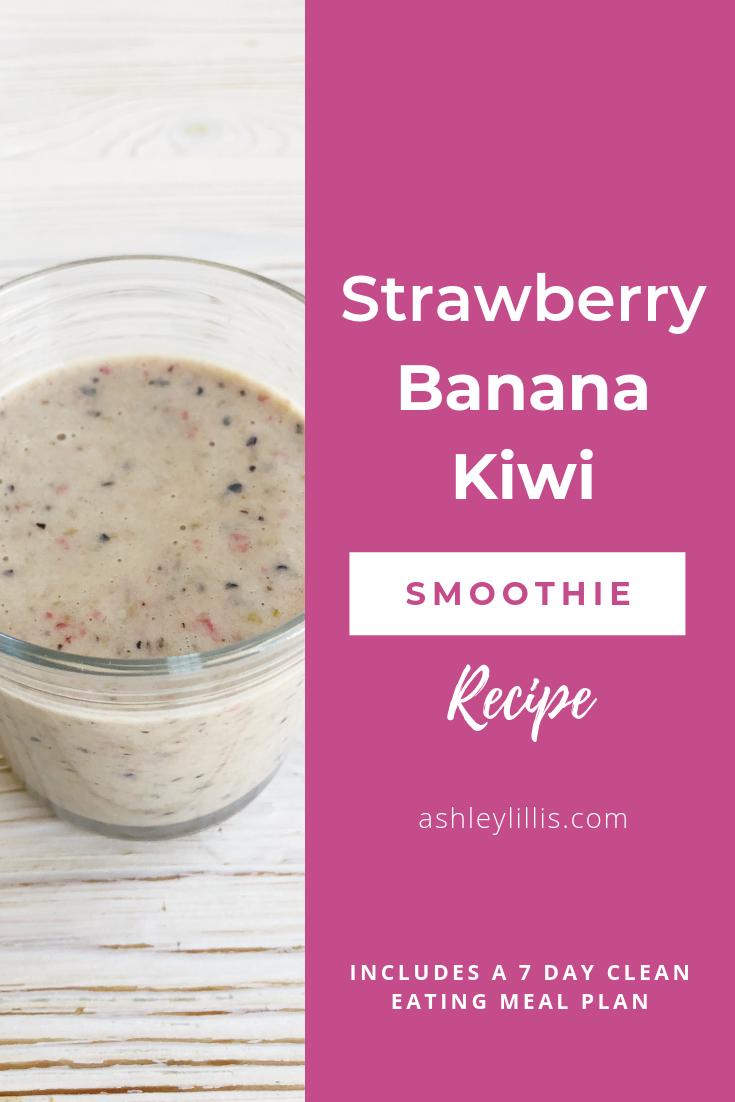 Strawberry Banana Kiwi Smoothie Recipe