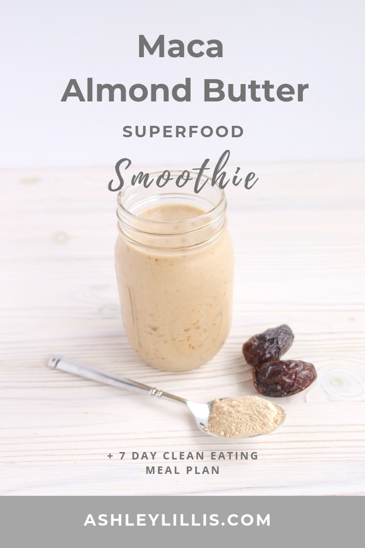 Superfood Maca Almond Butter Smoothie