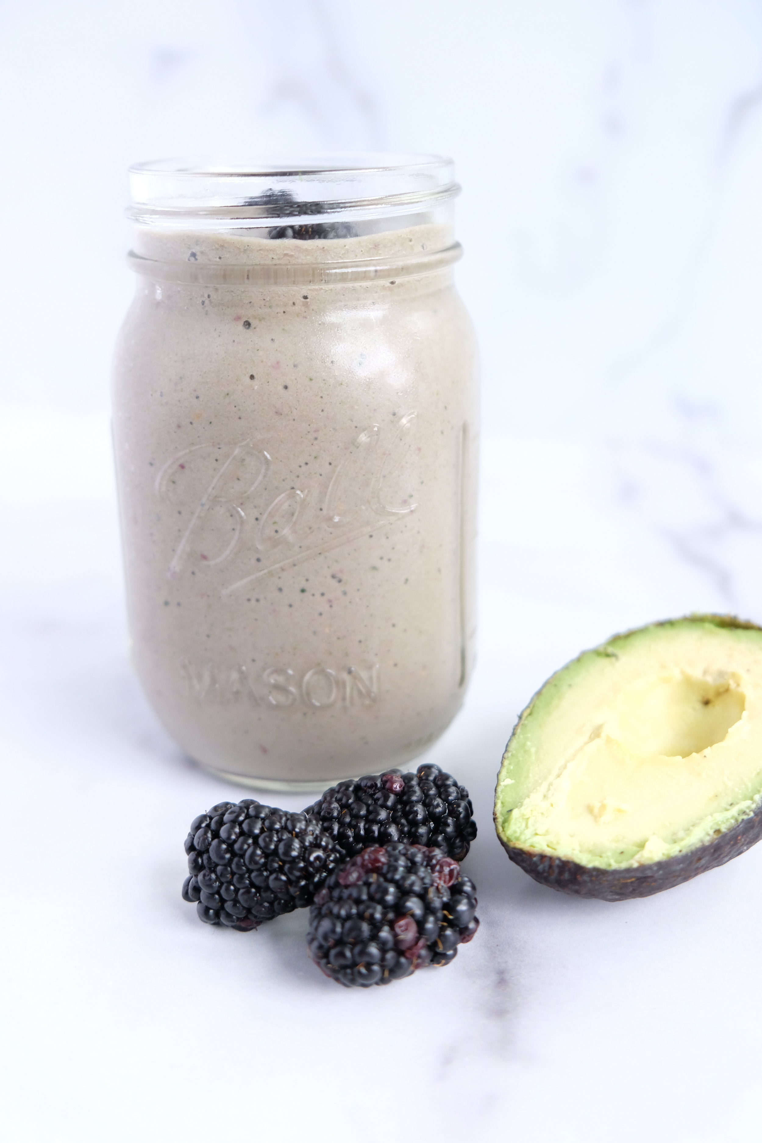 Low Carb Zucchini Blackberry Smoothie