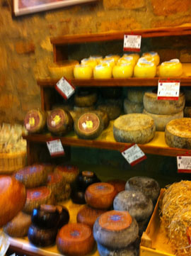 Pienza cheese shop