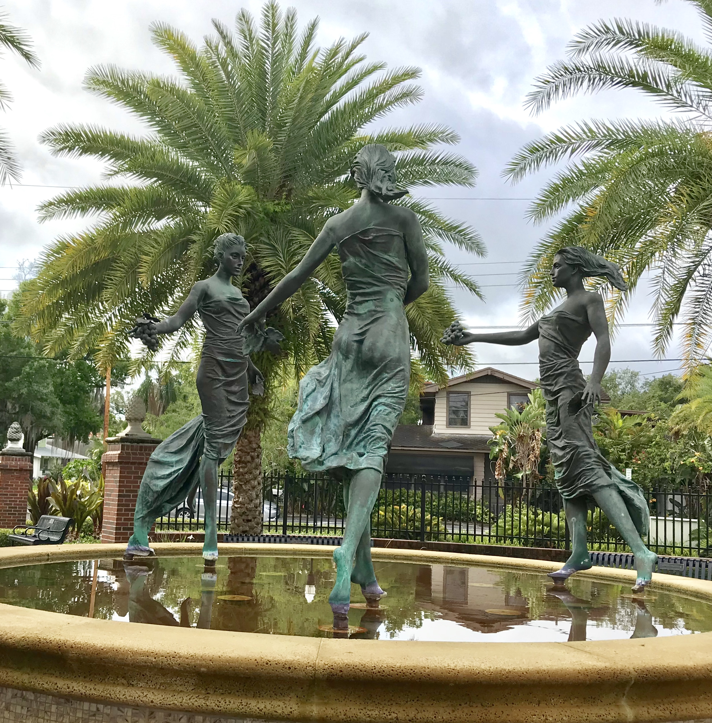 Girls Just Wanna Have Fun - statue located in Hyde Park section of Tampa
