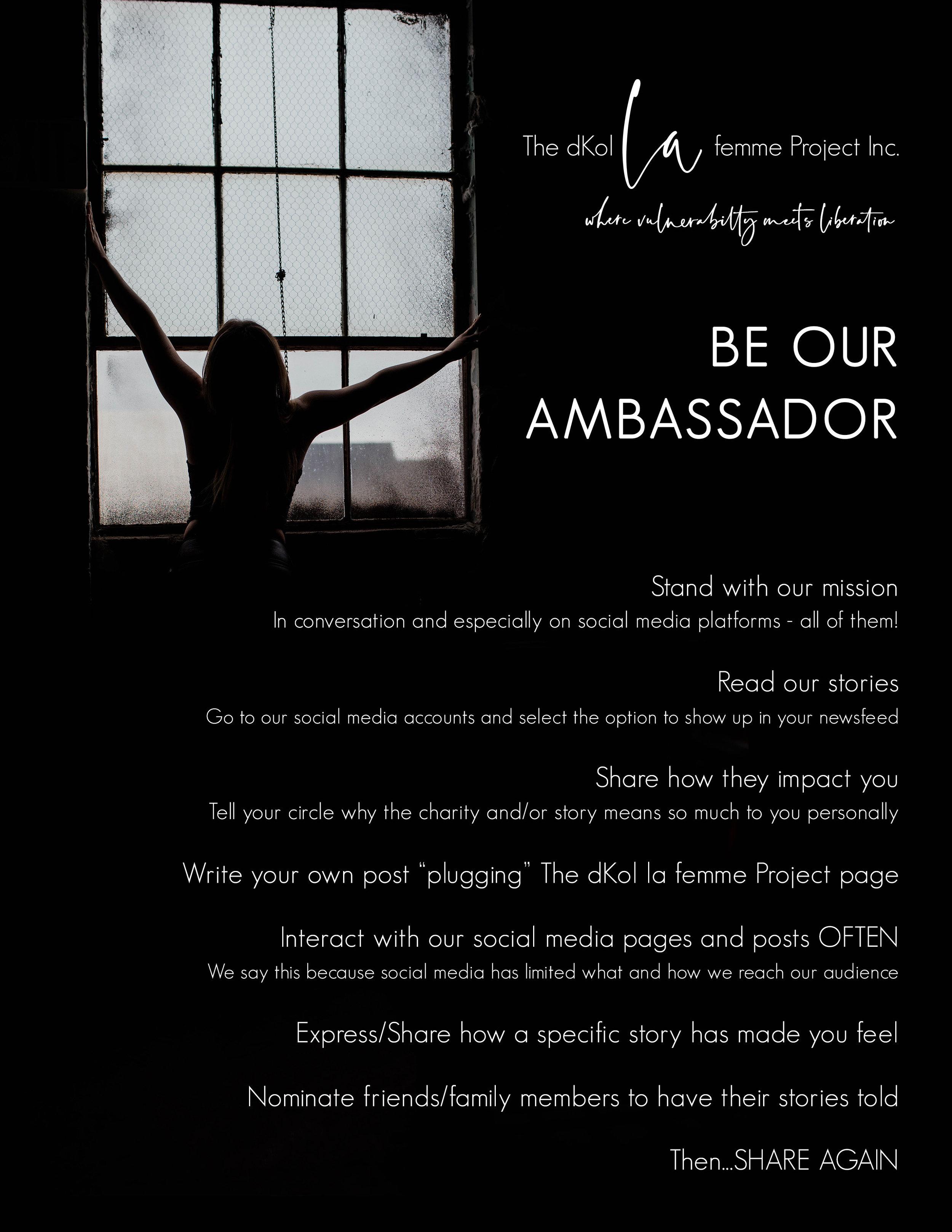 be our dkol ambassador