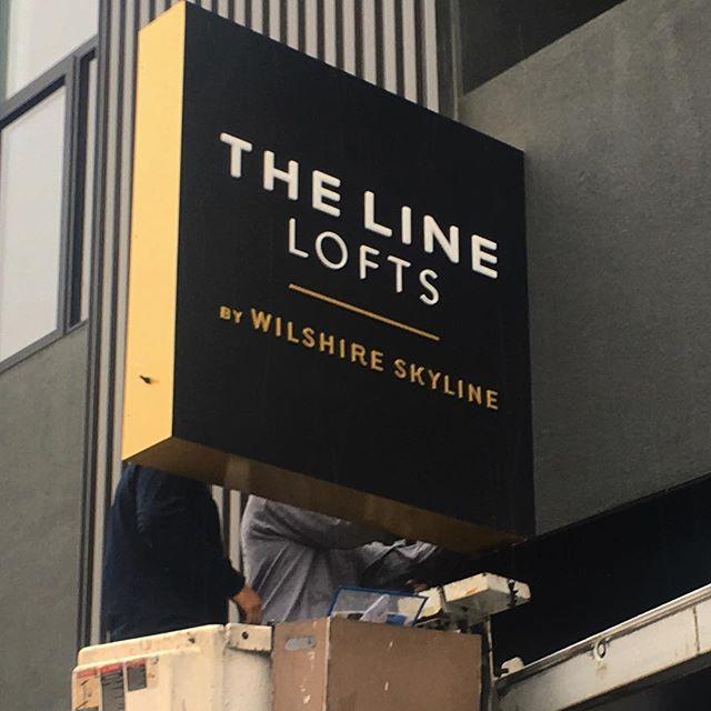 New signage going up @thelinelofts in #hollywood . . . . . #signagedesign #tenderling #design #la #signdesign #designla #losangeles #realestate #realestatedeveloper #signagedesingeraustin #atx #atxdesign #luxurydesign #branding #realestatebranding #logos #designinspiration #womanbusinessowner