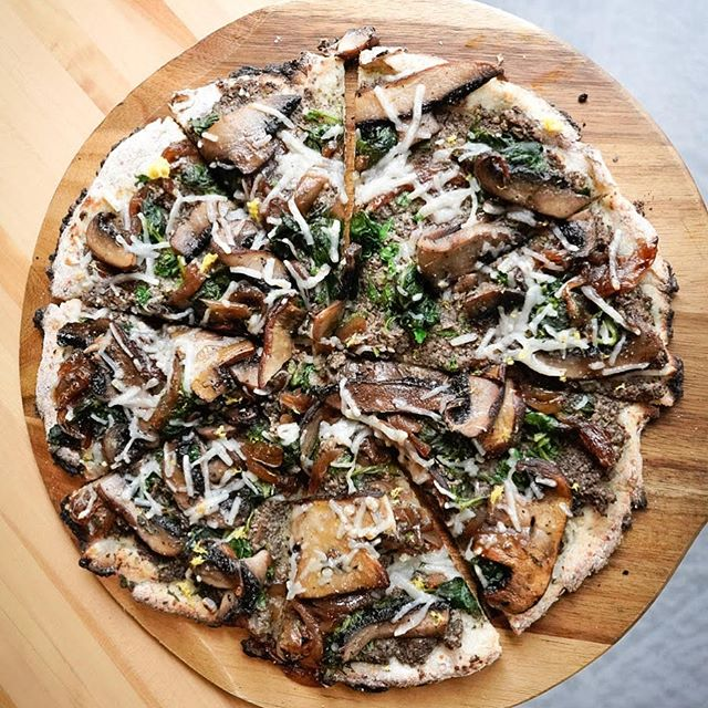VEGAN, Hemp-based, gluten-friendly PIZZA! That's our Manitoba Pizza Week entry! Can you believe that? We're launching this game changing pizza from our brand new and soon to launch Taste of Summer menu - This Vegan Inspired Pizza is made on hemp-based gluten-friendly dough with mushroom duxelle, confit garlic, parsley, spinach, portobello mushroom, vegan cheese, lemon zest & truffle oil  Come try the Vegan Mushroom Pizza exclusively at Carbone Cafe Club during Manitoba Pizza Week June 2-9.  Ps. Stay tuned for some very exciting news! • • • • • • #wpgeats #exploremb #manitobapizzaweek #wpg