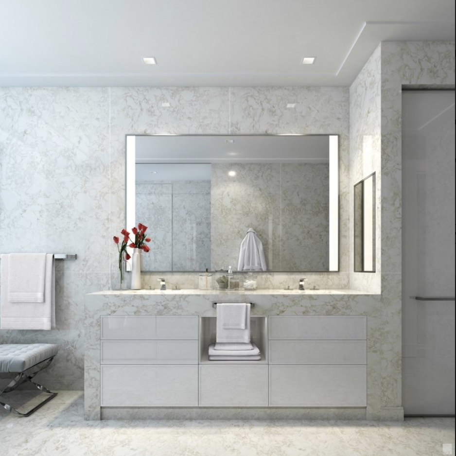 Opus bathroom walls and countertops