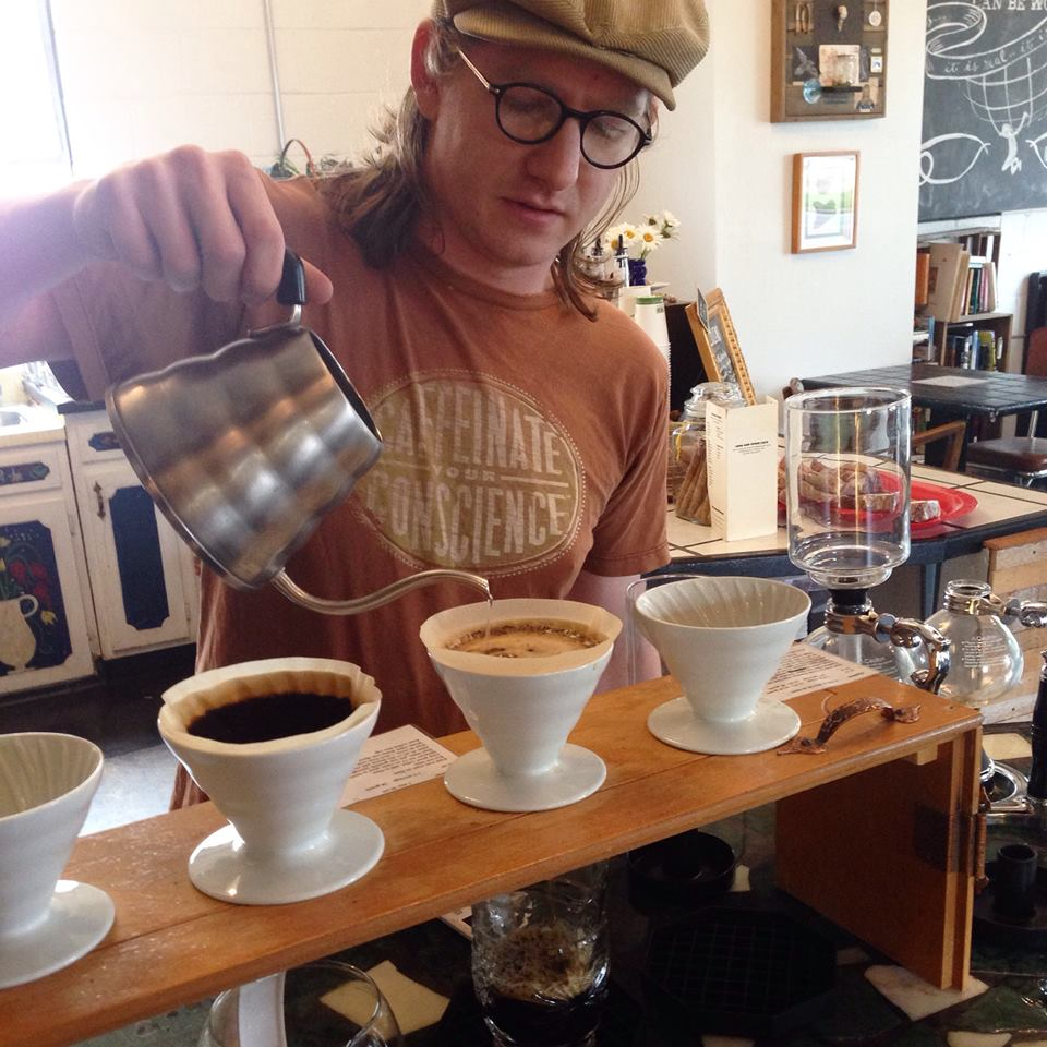 T.J. Making a Pour Over