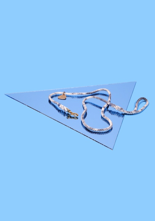 Fido's been into Shibori since, like, 2010. Give him the cred he seeks with this Rope Dog Leash hand indigo-dyed with the traditional Japanese bind-and-fold technique.