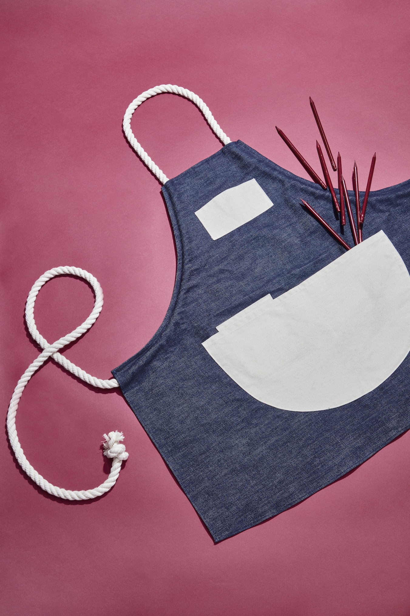 We're pretty into Kristin Amber Morrison's apron game (see our second issue for even more on that!) and this season, the love affair continues with her Maker's Apron. Made from heavy duty, indigo-dyed denim and cleverly laced thick cotton rope straps, this little number is perfect for the rolled-up sleeves set (you know, people who make stuff). The apron's not all ye olde charm, however: That top pocket is just the right dimension to hold your iPhone. After all, if a maker doesn't post her creation to Instagram, did it really happen? Maker's Apron, $100, kristinambermorrison.com