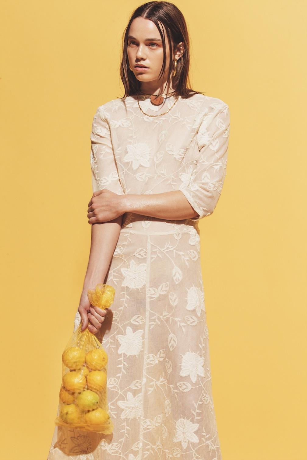 For Love and Lemons dress, Sophie Monet necklace.