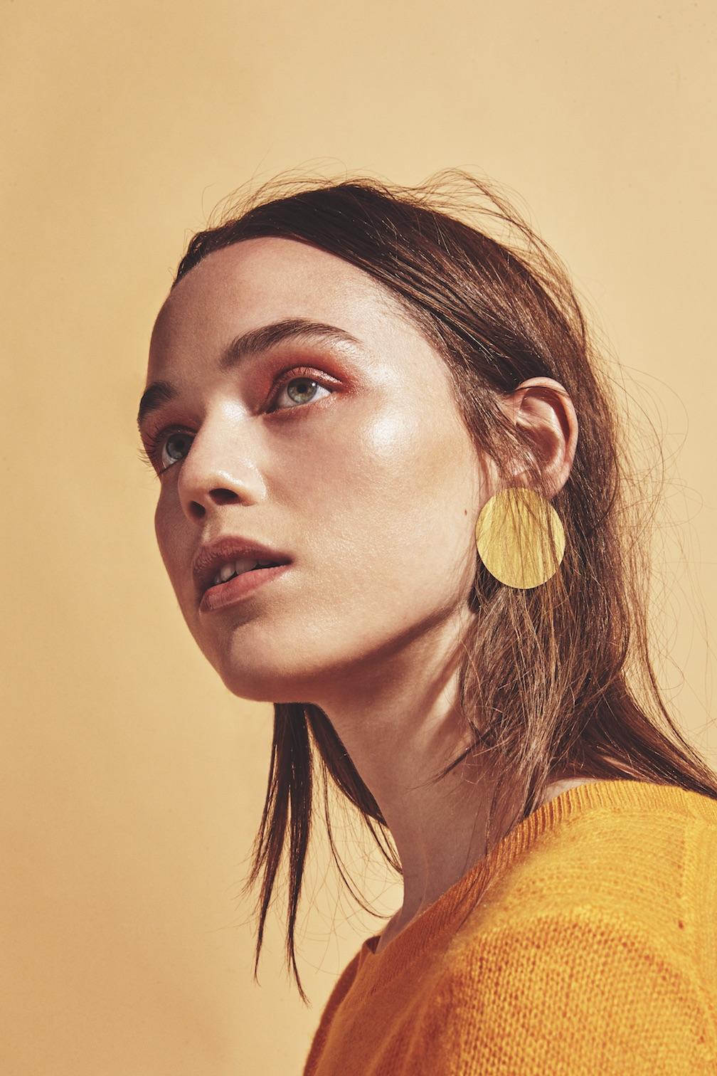 White + Warren sweater, Annie Costello Brown earrings.