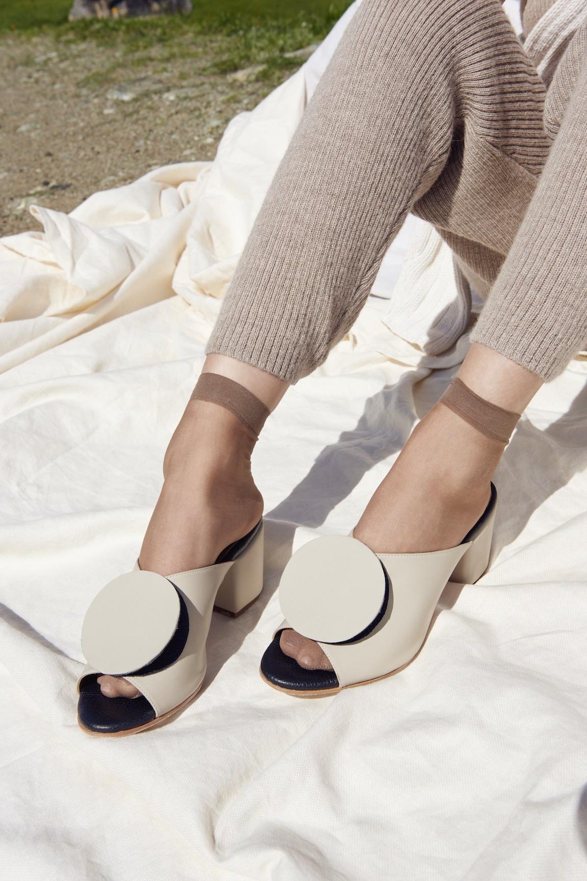 Lauren Manoogian jumpsuit, The Palatines shoes.