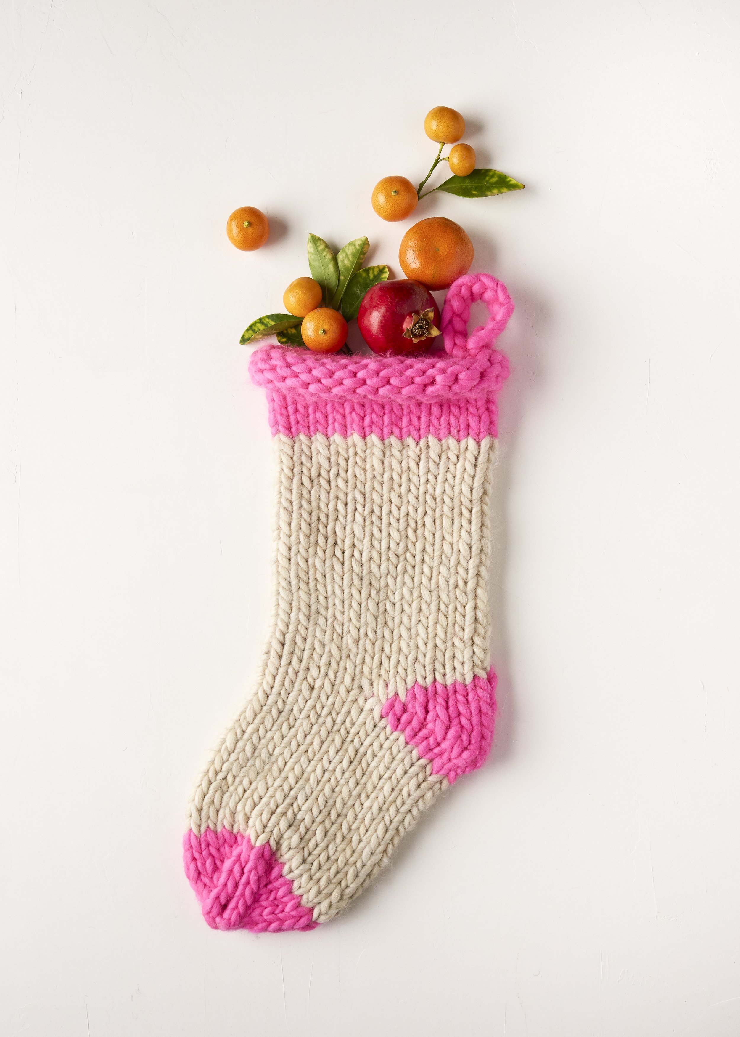 """Purl Soho's """"Knit Before Christmas"""" Stocking - Knit up in their giant and super easy to work with Gentle Giant 100% merino, you might even have time to make a few of these sweet guys."""