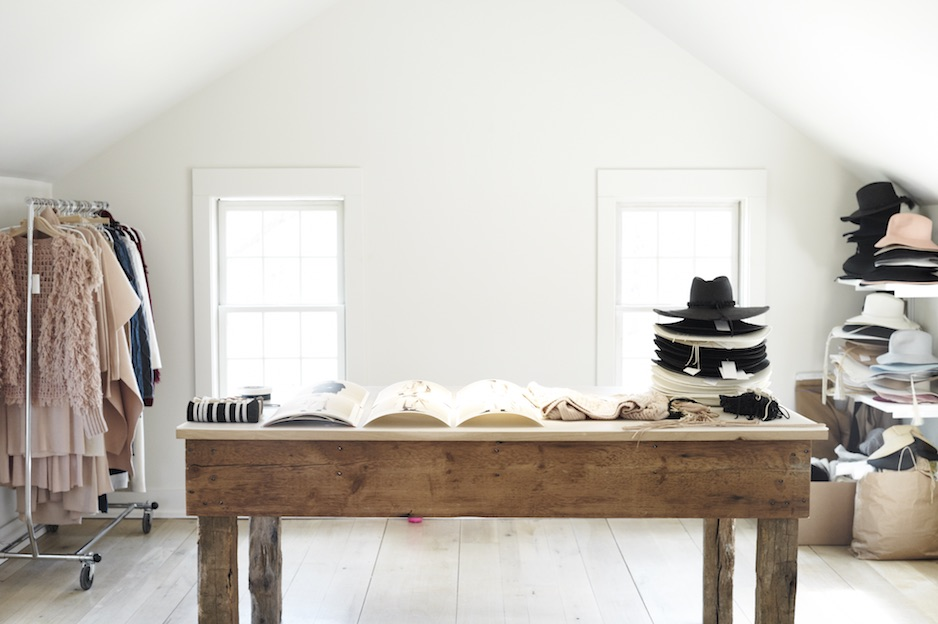 Photos of Ryan Roche's Home Studio by Anna Moller, Knit Wit  Issue 2 .
