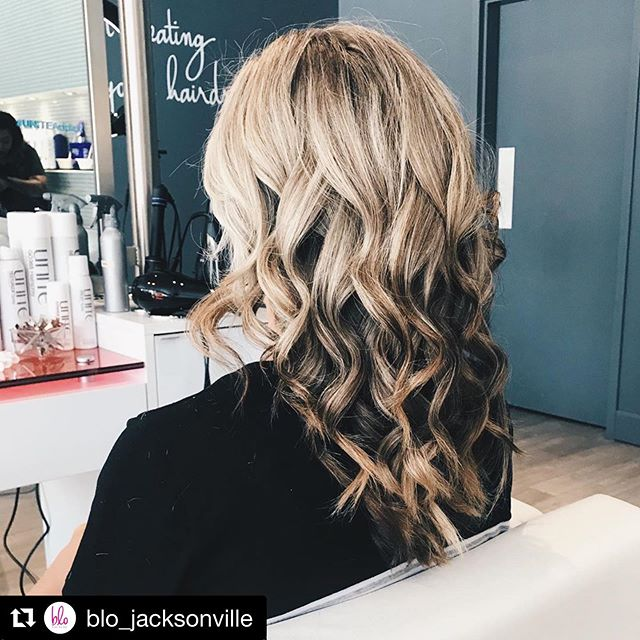 """Our friends at Blo Blow Dry Bar are looking for some Influencers to be BLOwn away by their services! Slide over to the app to apply!! 💁🏼♀️🙋🏼♀️ #Repost @blo_jacksonville ・・・ Perfect """"pillow talk"""" signature style. Styled by @rebeccahackettmua using U Luxury Shampoo & Conditioner treatment. #uniteluxuryline #pillowtalk @unite_hair"""