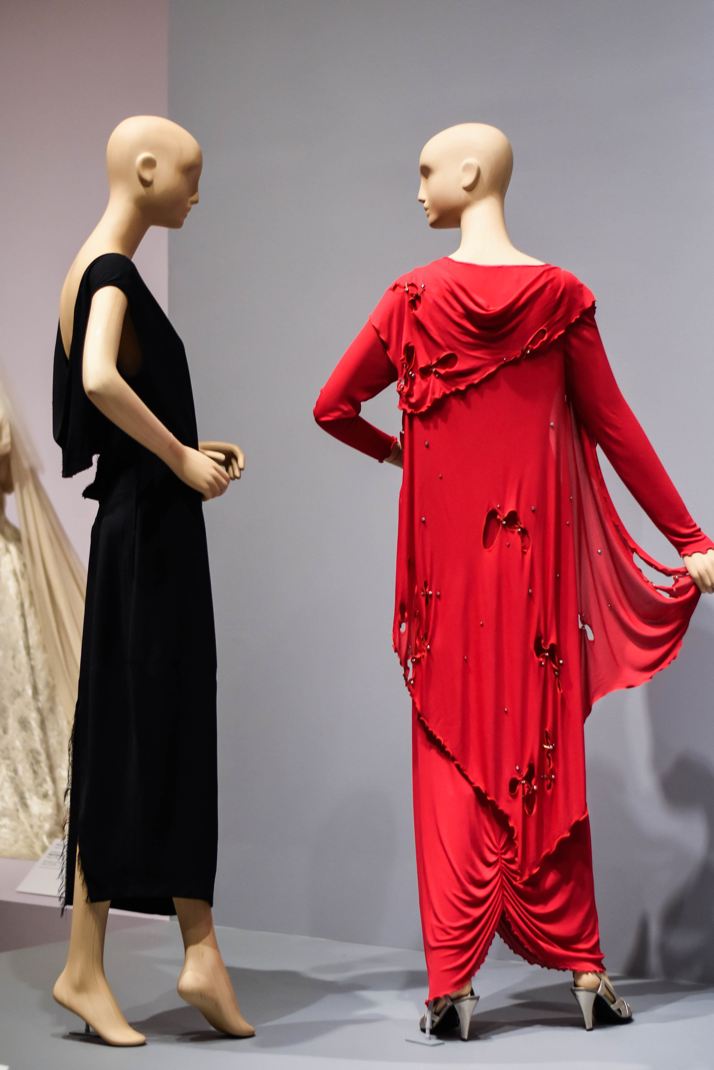 designed by Rei Kawakubo for Comme des Garcons in 1969 (left)