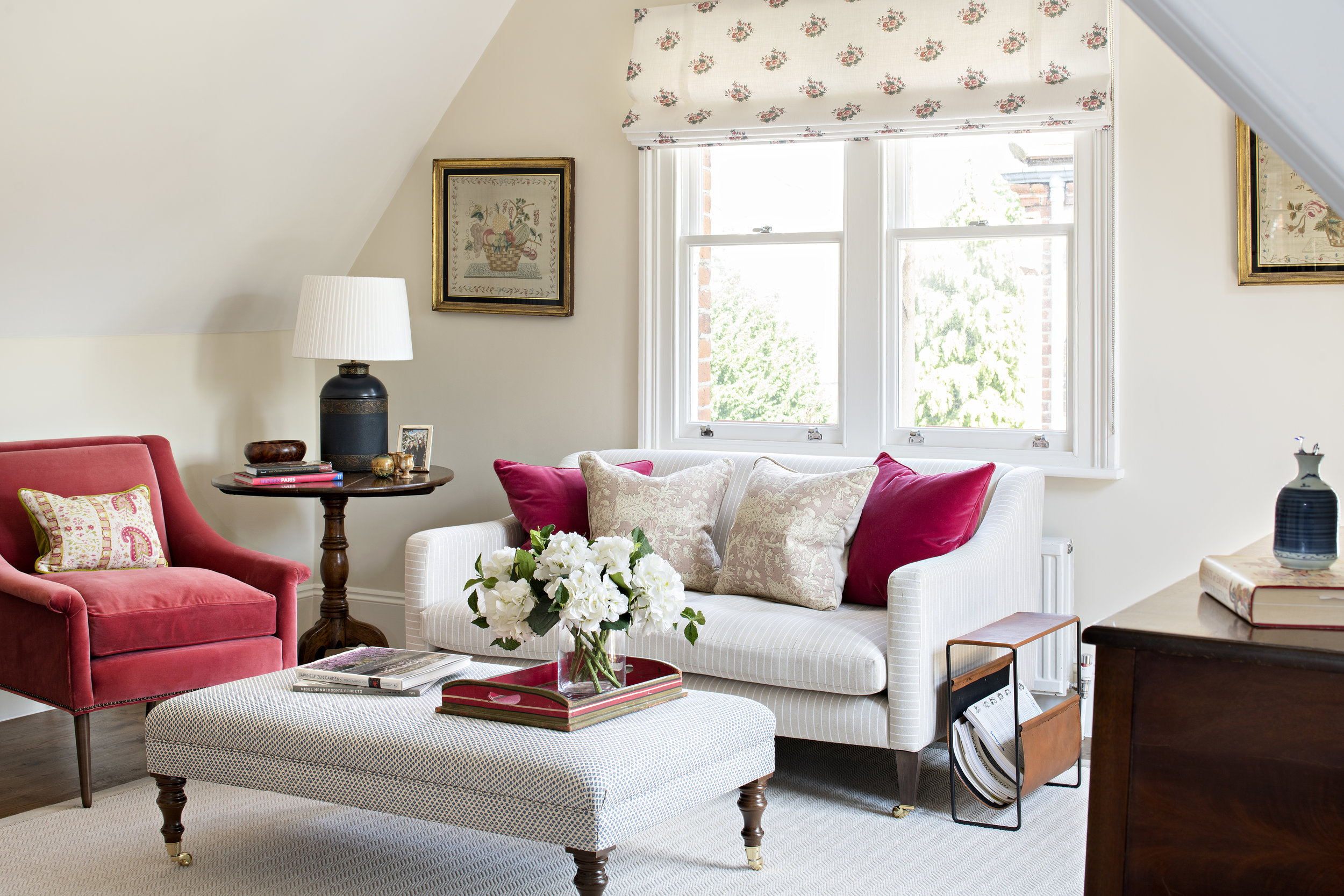 Upholstery - We work with a number of upholsterers which allows us to deliver to differing budgets. In the past we have created bespoke sofas, chairs, Ottomans, headboards and beds as either one-off commissions or as part of a project.