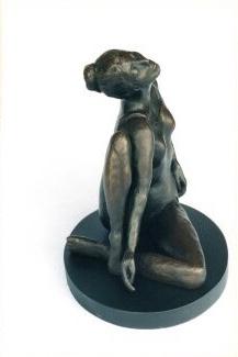 """Movement Study"" 9"" x 9"" bronze on wood base"