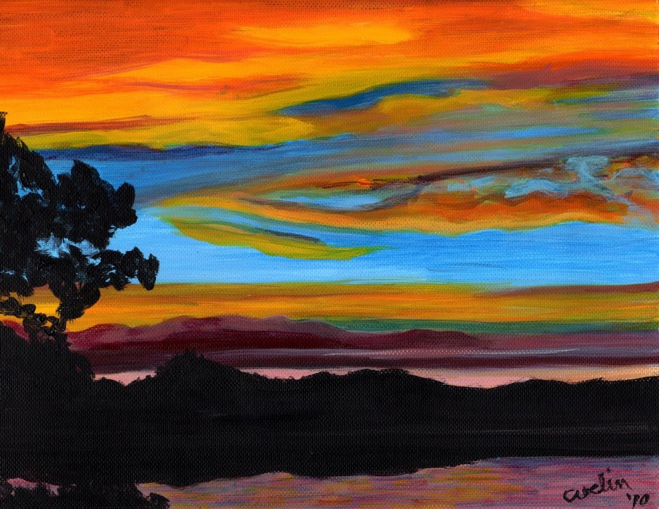 """""""Sunset Clear Lake 2"""" sold"""