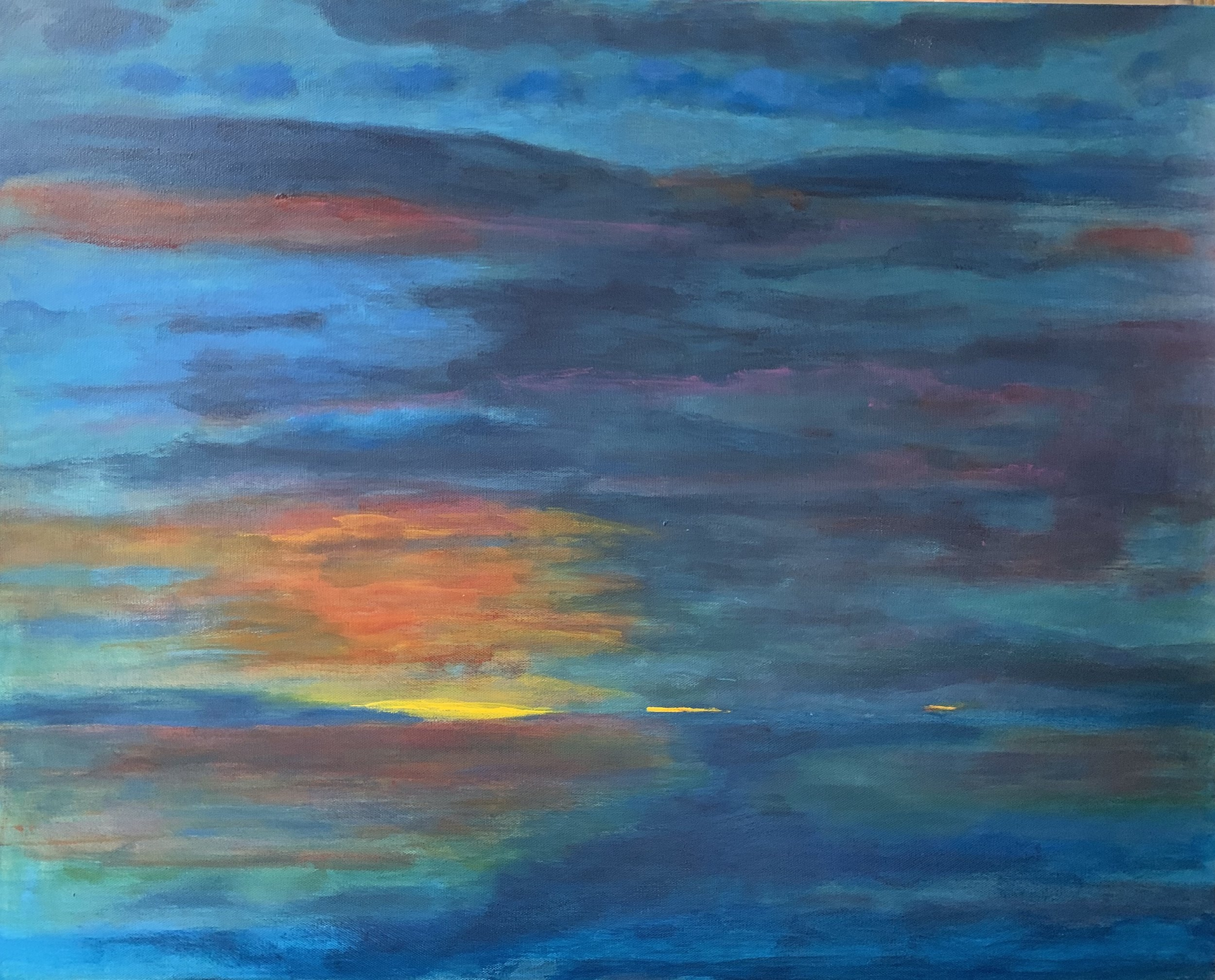 """First Light"" 24"" x 30"" acrylic on stretched canvas"