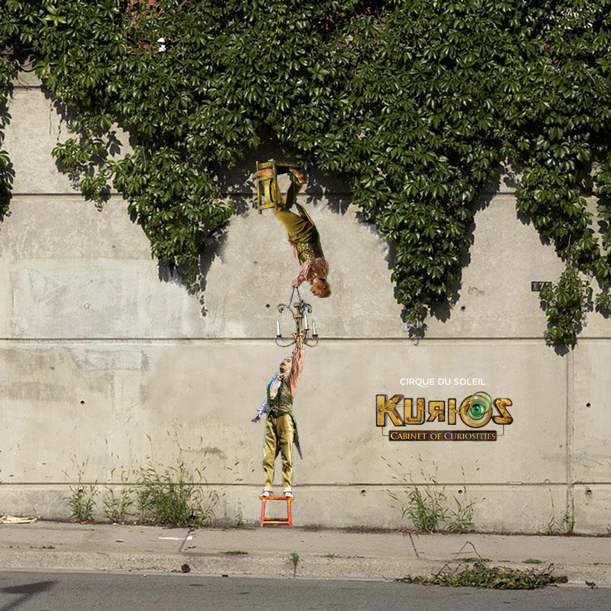 KURIOS (CIRQUE DU SOLEIL)   /// URBAN GUERRILLA ART