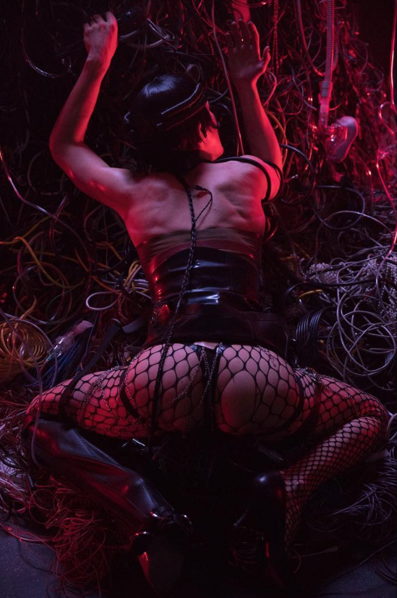 "4. Hart Leshkina, Photography. ""Arca (Alejandra Ghersi) performing in Paris."" 2018."