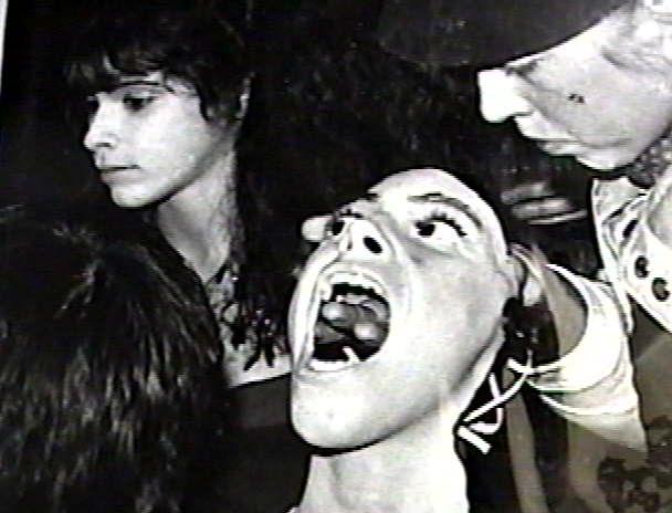 43. Behind the scenes with a prosthetic mask.  Hiltzick, Robert, Director.  Sleepaway Camp.  1983.