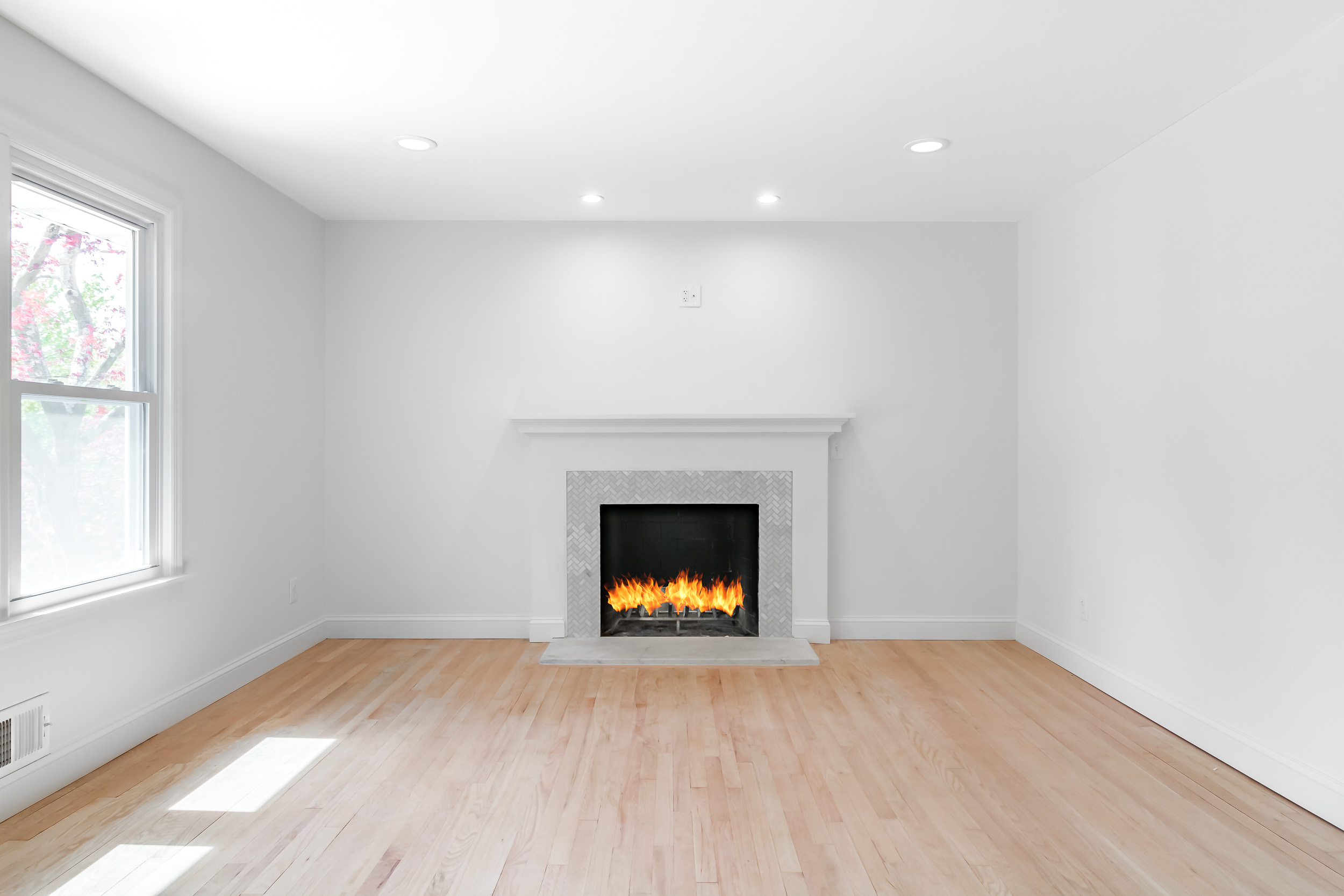 Copy of Architectural photograph of a custom finshed living room in West