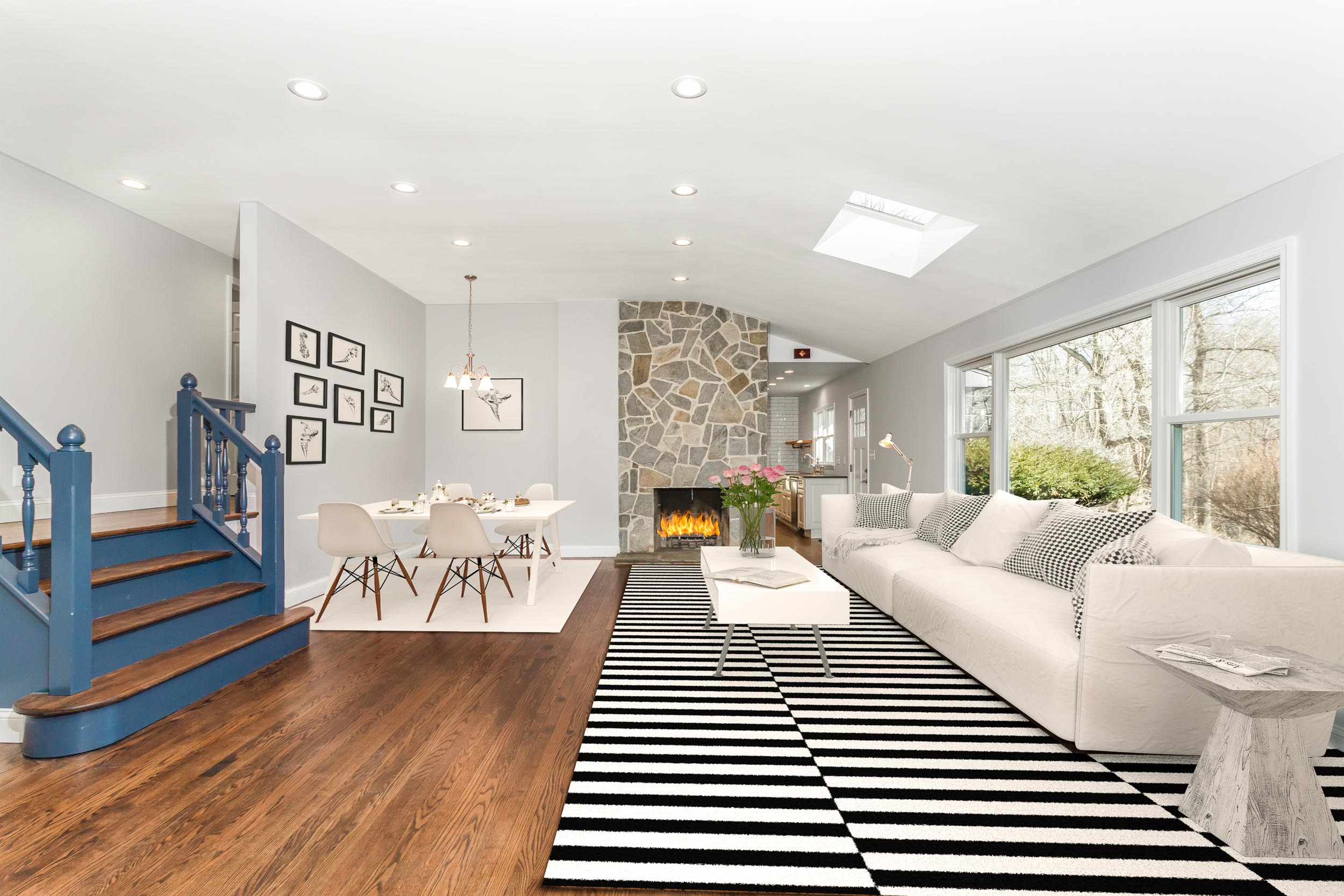 Copy of Virtual staging of a living room in Westchester's Ossining, NY