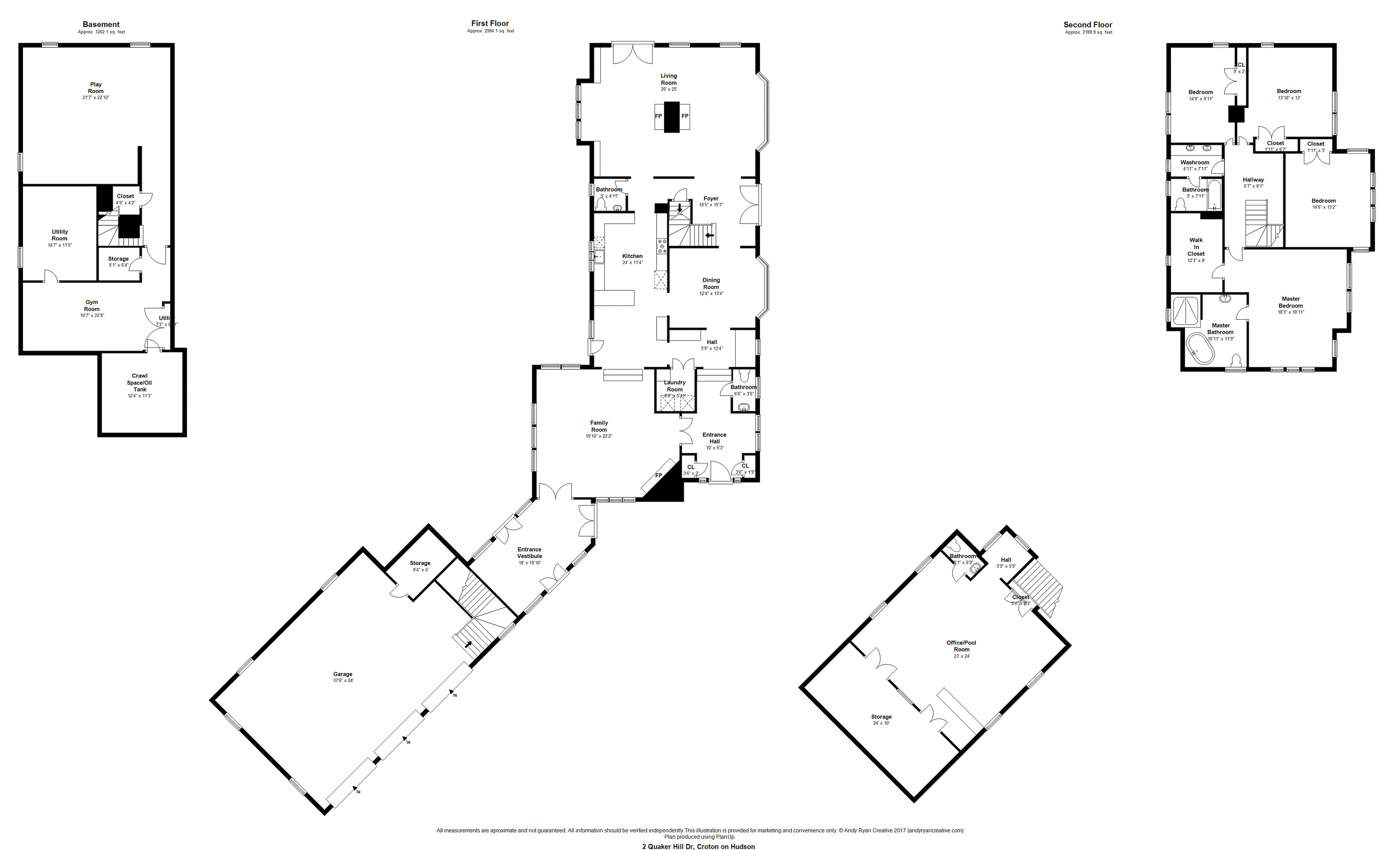 A real estate floor plan. Floor Plans by Andy Ryan Photographer ( www.andyryanphotographer.com )