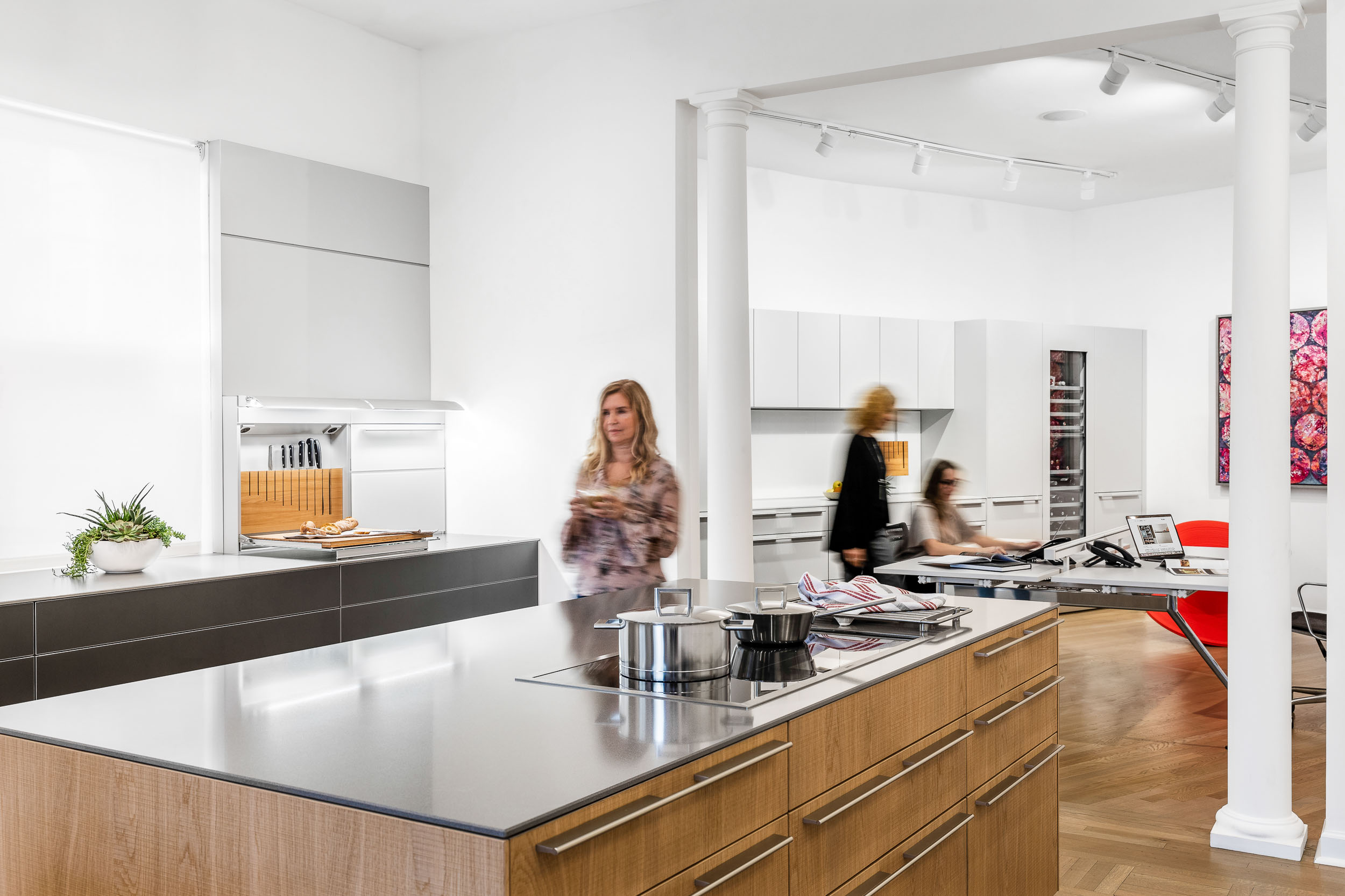 Commercial architectural photography of for a Luxury Kitchen Showroom in Greenwich, Connecticut.