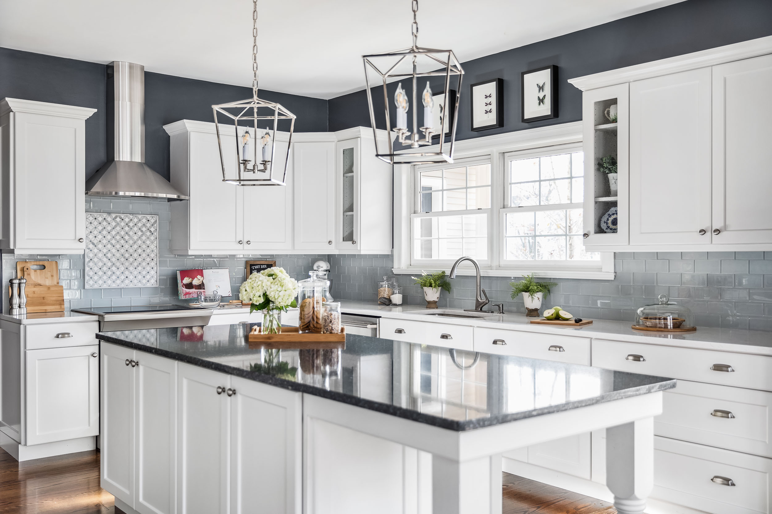 Architectural interiors photography of a renovated kitchen in Nyack, NY