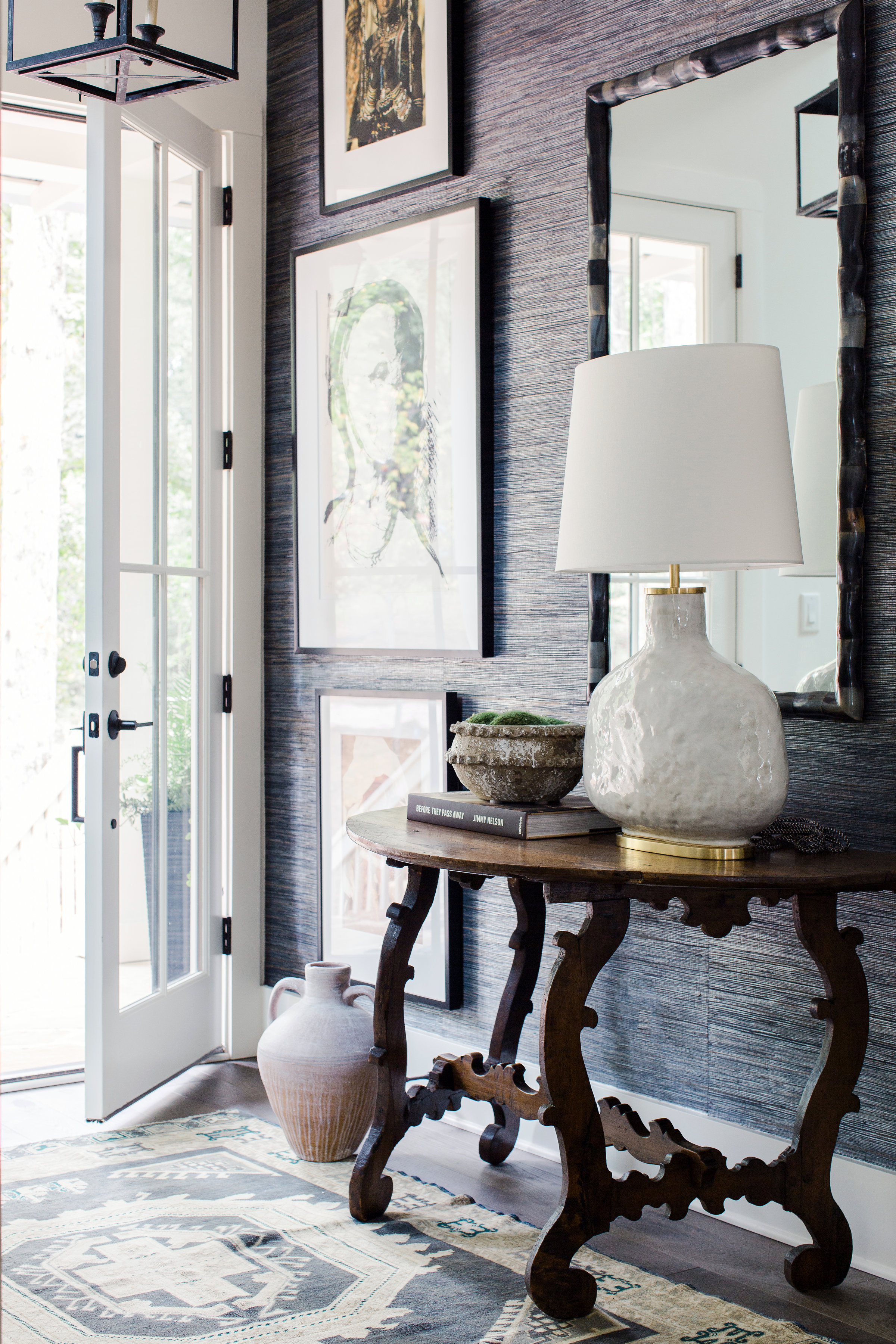 2018 Showhouse Foyer & Stairway by Anna-Wooten Loggins, A Wooten Interiors.  Photo by    Ali Harper Photography   .