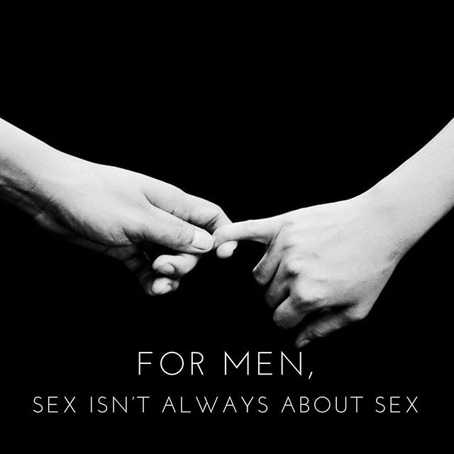 """The first and foremost instinct of humans is neither sex nor aggression. It is to seek contact and comforting connection."" -Dr. Sue Johnson • For men, sex is about more than just sex. And I wrote a blog post that does this truth more justice than what I can cram into an Instagram post. Please follow the link in my bio to read more on this crucial topic that doesn't get talked about enough."