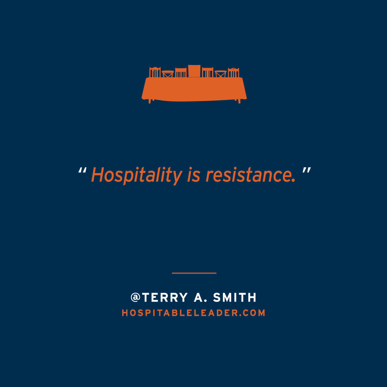 In a culture that has become more and more divisive, simply welcoming in a stranger can become an act of resistance. Jesus did this throughout his ministry. It's a leadership style that Terry Smith unpacks in his newest book The Hospitable Leader. Learn more at HospitableLeader.com.