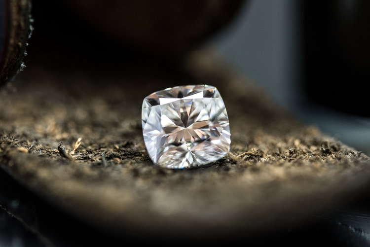 Weinstein's laboratory receives lots of manufactured diamonds from folks who want an independent assessment of the four C's: cut, color, clarity and carats.
