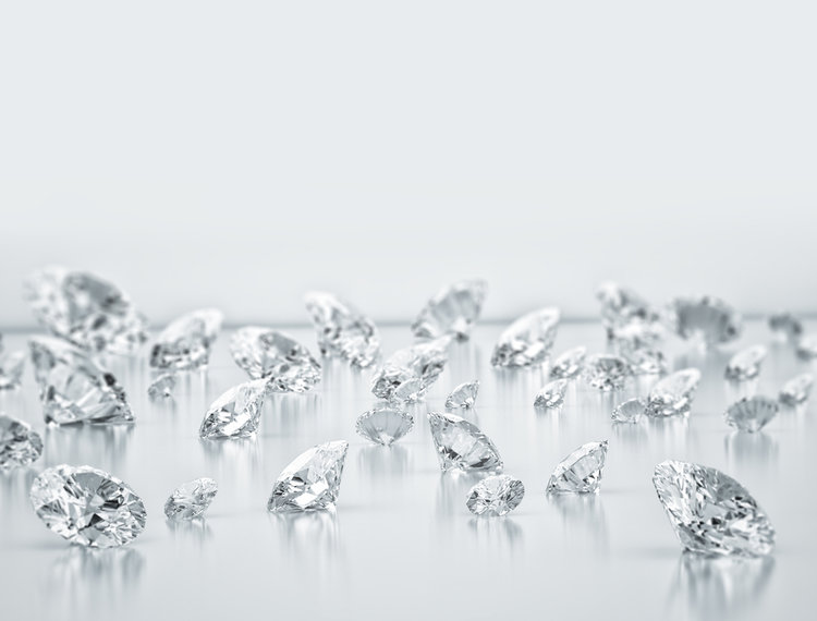Keep in mind that though these diamonds have been cultivated, they are in no way faux.
