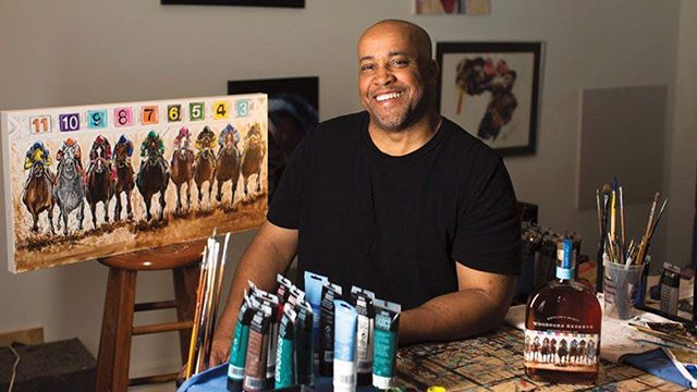 Join us this Sunday, April 7th at @untitledchicago as we highlight and celebrate Keith Anderson, the first African-American Artist to have his art work featured on the 2018 and 2019 limited-Edition official Kentucky Derby Bottle! Meet the man behind the bottle. Sunday 6:30PM-9:00PM, Derby attire suggested but not mandatory. Link in the bio. You must RSVP.  #RoadtoDerby #harlemlegacy  #getinvolved  #artandcocktails #Causingastir #thirteenoffifteen  #Iridetowin