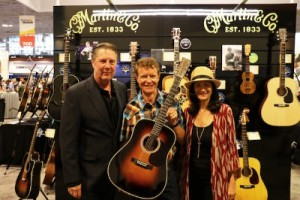 Pictured L-R: Bart Herbison (Executive Director, NSAI), Chris Martin IV (Chairman and CEO, C.F. Martin & Co.), Leslie Fram (Senior Vice President of Music Strategy, CMT)