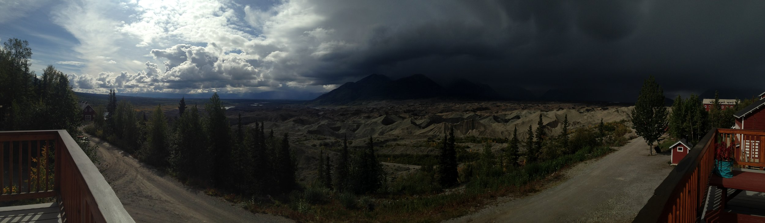 Weather St Elias National Park Storm over Kennicott Glacier