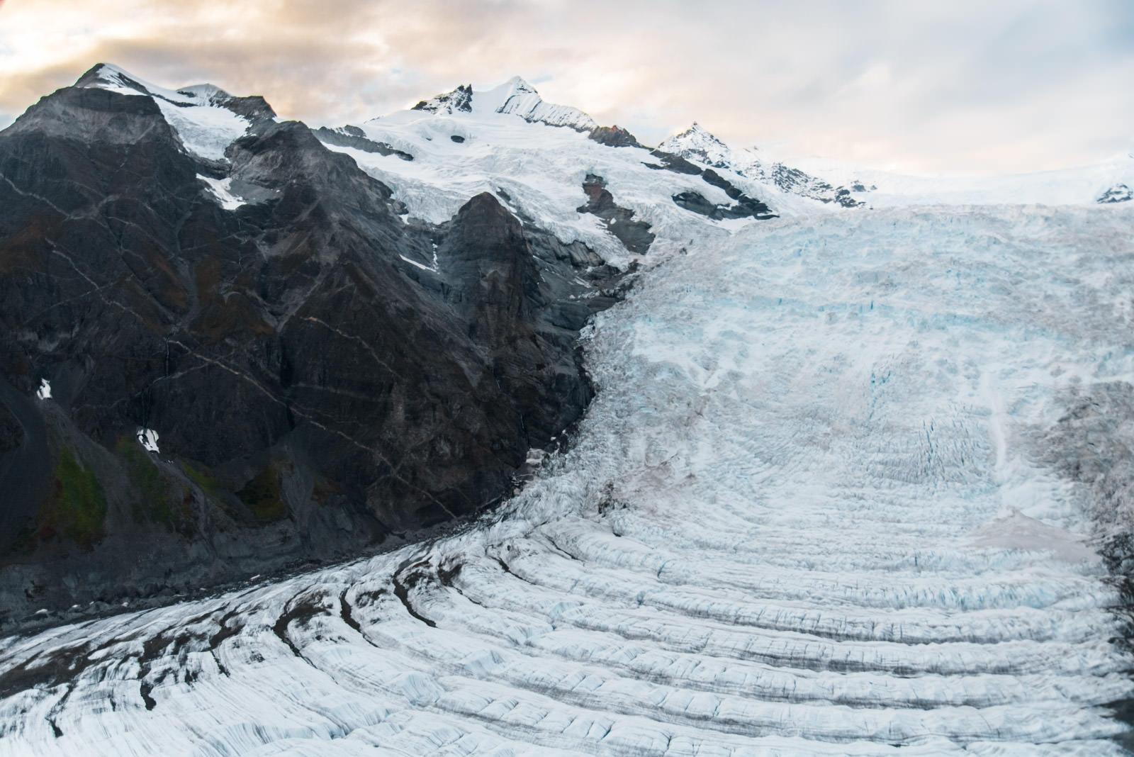Mile High Cliff Tour: Kennicott Valley, Gates Glacier Ogives
